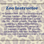 Zoo Instructor